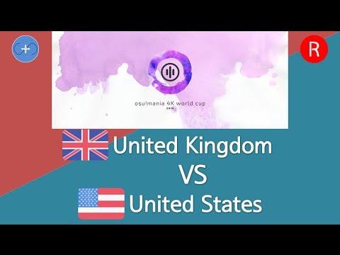 osu!mania 4K World Cup 2016 Semifinals - Match M - United Kingdom vs United States