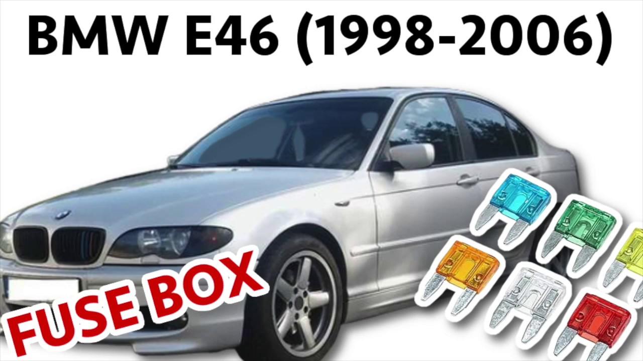 bmw e46 1998 2006 fuse box diagram location [ 1280 x 720 Pixel ]