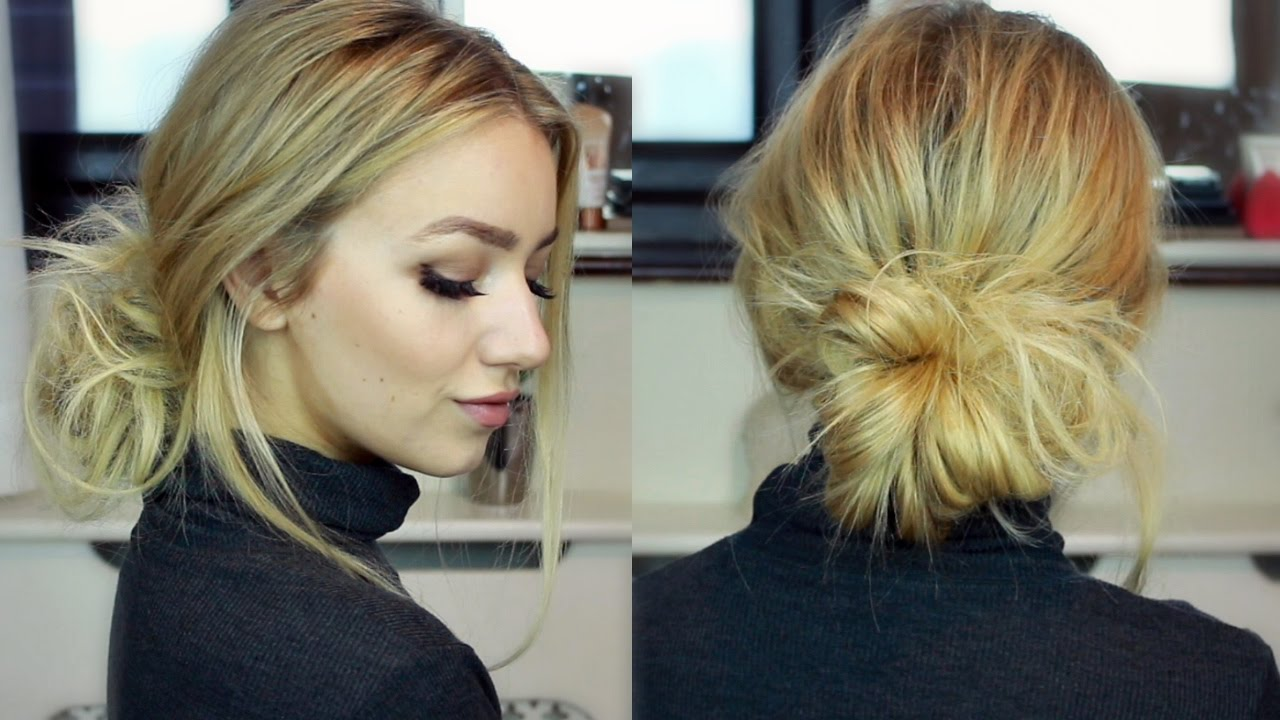 Autumn Winter 2016 Trends Low Bun Tutorial With Hair