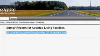 Finding Senior Care Facility Survey & Complaints Reports for Delaware