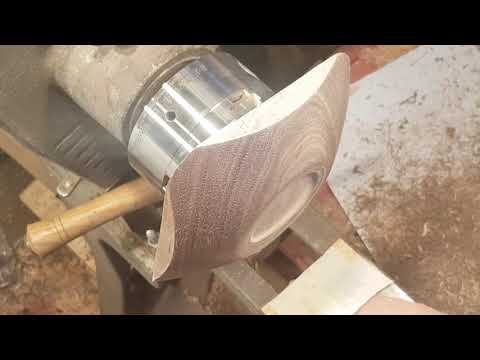 Woodturning #13 black walnut square bowl