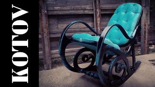 кресло-качалка. rocking chair restoration. timelapse.