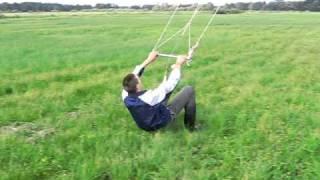 Kitesurfing - latawiec komorowy 12 m2 własnej roboty ;D
