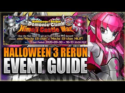Halloween 2020 Fgo Rerun Event HALLOWEEN 3 RERUN GUIDE! HOW TO GET MECHA ELI CHAN! Fate Grand
