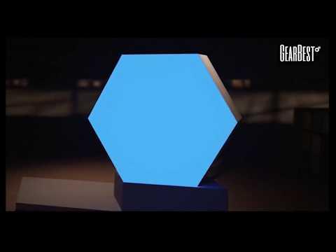 Creative Geometric Shape Assembling Night Lamp for Home