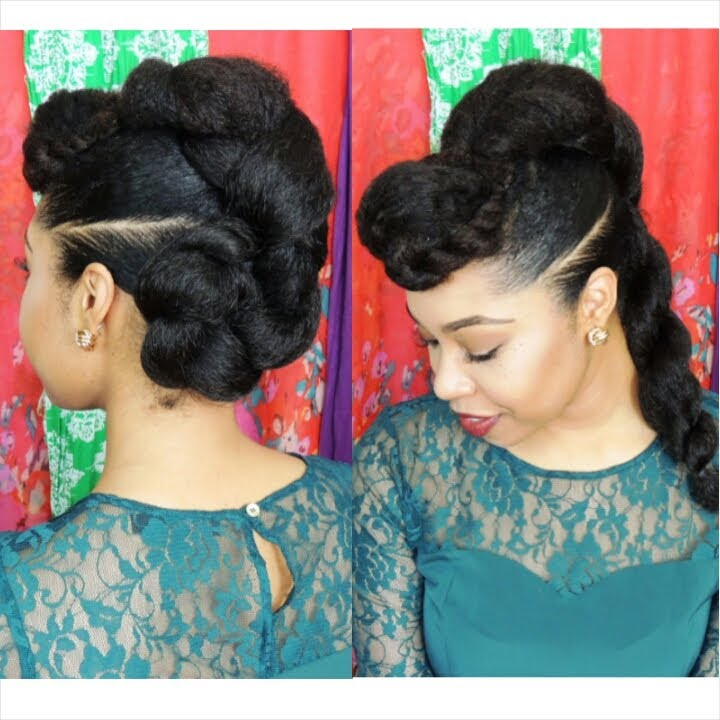 "Natural Hair Protective Hairstyle ""Twist'n'Bun"" YouTube"