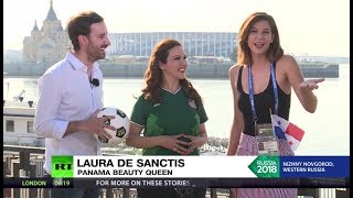 'It's so hot': RT talks to Panama beauty queen ahead of clash with England