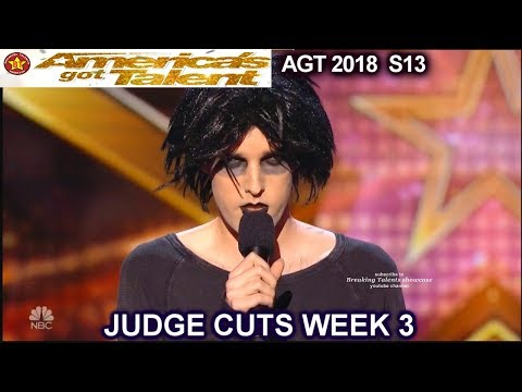 Oliver Graves Stand Up Comedian HILARIOUS America's Got Talent 2018 Judge Cuts 3 AGT