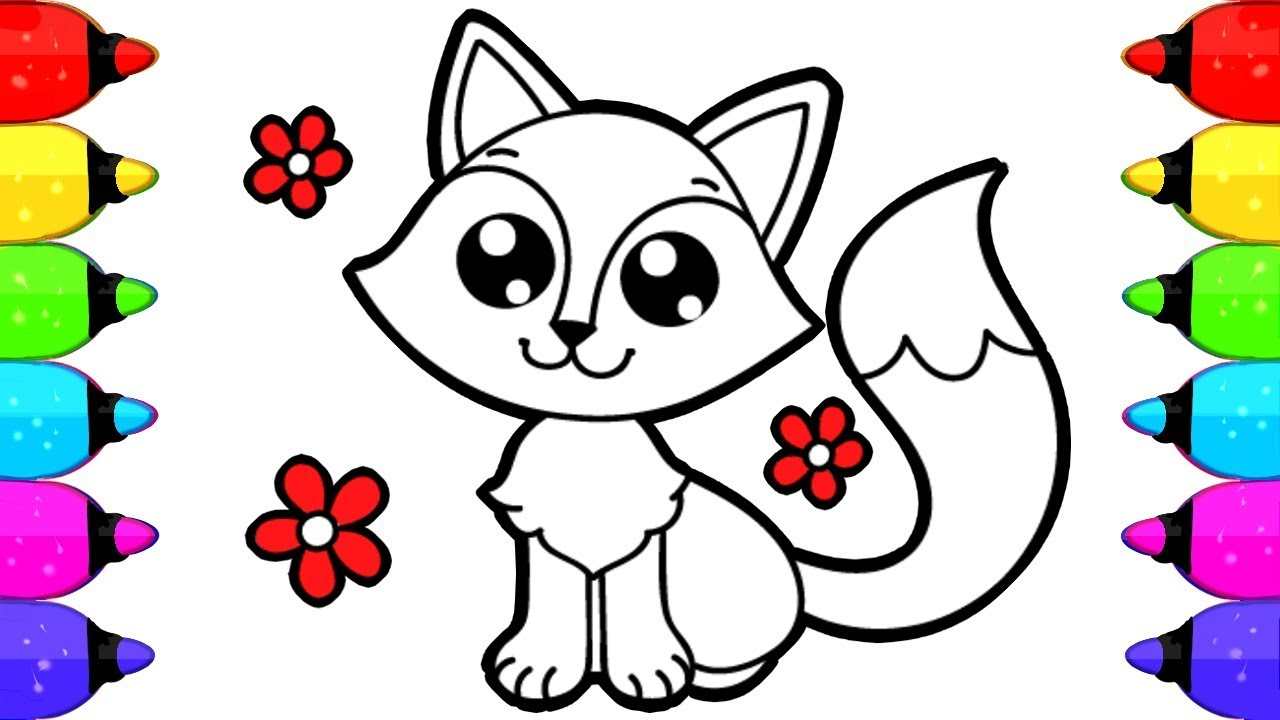 Fox Coloring Book Pages for Kids  How to Draw and Color Fox Coloring Book