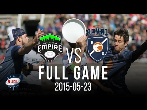 New York Empire VS Royal | Game | AUDL | Ultimate frisbee | Montreal Royal