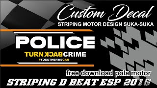 Video Striping Beat Esp 2016 + Free Download Pola Striping Motor - Police Back Turn Crime Concept download MP3, 3GP, MP4, WEBM, AVI, FLV Juni 2018