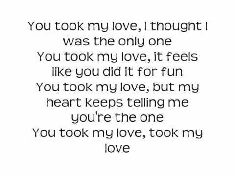 took my love best lyrics-pitbull ft. Red Foo, Vein, and David Rush