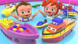 Little Babies Learning Videos | Learn Ships Names with Babies Fun Play Ships Toys 3D Kids Education