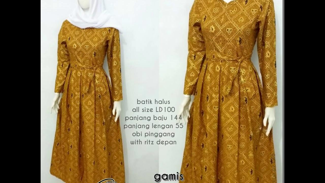 Wa 0878 3609 2333 Model Baju Gamis Batik Muslimah Terbaru Desain