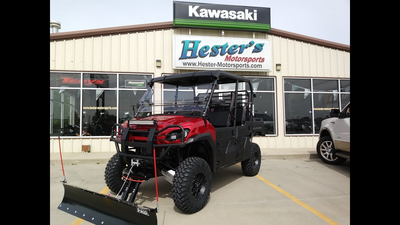 2018 Mule Pro Fxt Lifted 30 Tires Red Fxr Body Plow And More