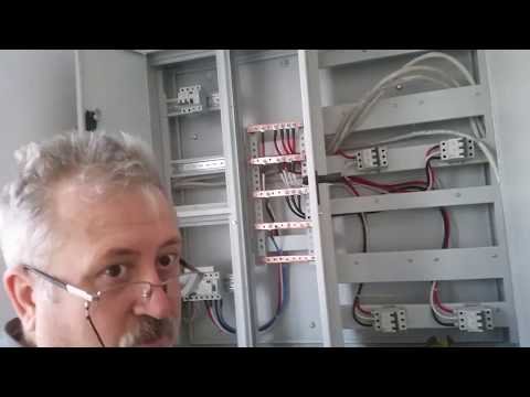 Home Main Electric Panel Wiring 1  (Sayac Pano Baglama 1)