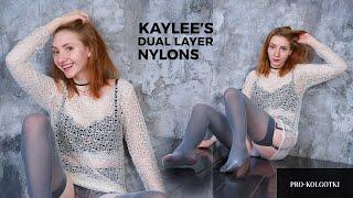 Kaylee Amateur Model Posing in Fishnet Pantyhose - Backstage of 2018-03(1)