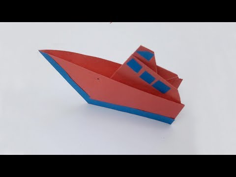 How to Make A Paper Boat | DIY Easy Paper Speed Boat | Origami Paper Boat Making Instructions