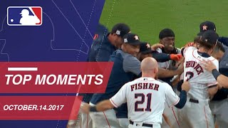 Astros walk off, plus nine more ALCS and NLCS moments on 10/14/17