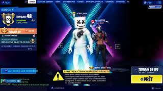 "BOUTIQUE FORTNITE OF AUGUST 23, 2019 (skin ""major lazer"")"