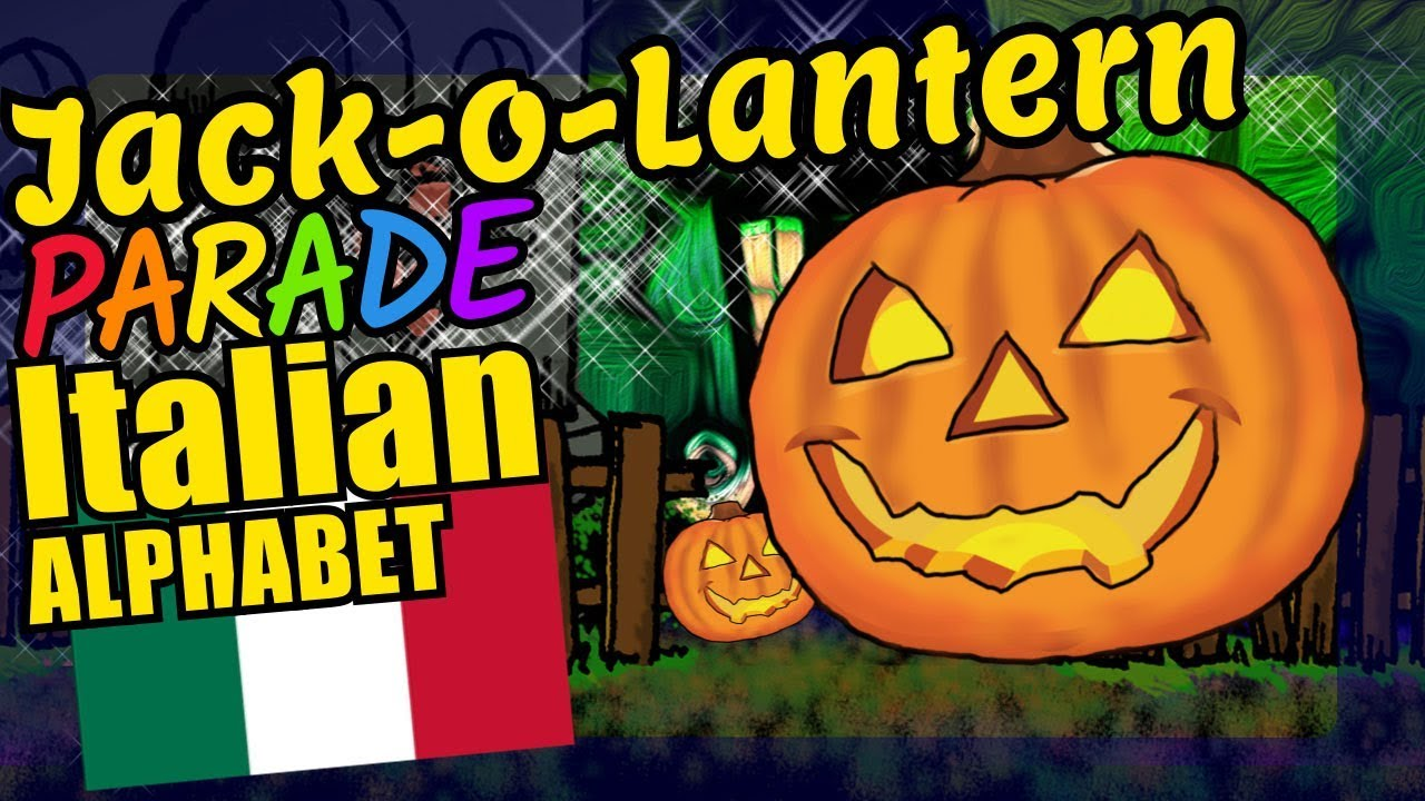 Halloween Jack O Lantern Teaching The Italian Alphabet Letters Educational Language Video For Kids