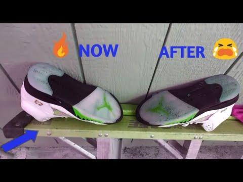 HOW TO CLEAN JORDAN RETRO 5 SOLES!!!