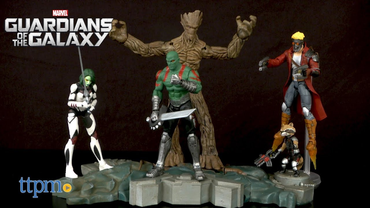Guardians of the Galaxy Action Figures Star-Lord Groot Rocket Raccoon Gamora Fig