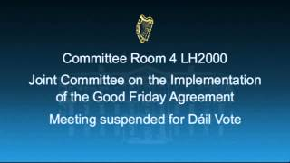 11.00 - Joint Committee on the Implementation of the Good Friday Agreement 24 Jnauary 2013