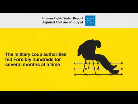 HUMAN RIGHTS WATCH - Against torture in Egypt