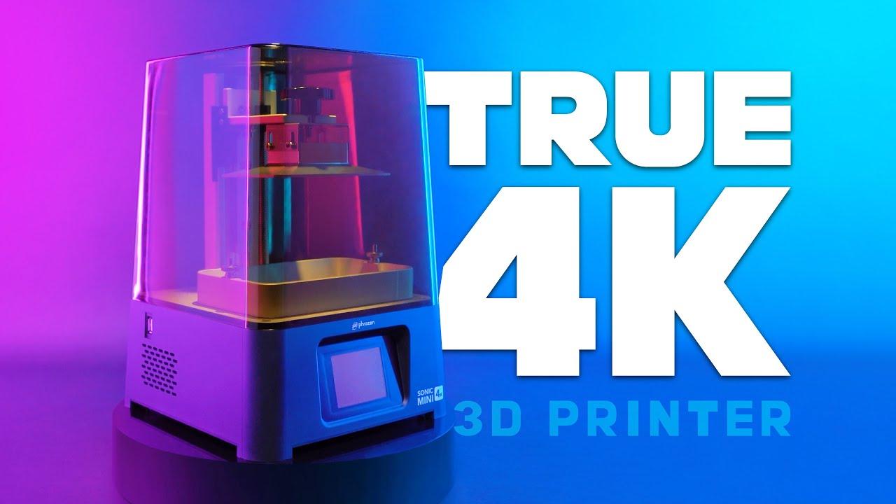 Print Volume L5.2 x W2.9 x H5.1in PHROZEN Sonic Mini 4K UV Photocuring LCD Resin 3D Printer with 6.1 inch,True 4K Monochrome LCD Screen Made in Taiwan.