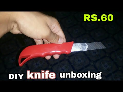 paper cutting DIY | cheap knife - unboxing | techie bug |