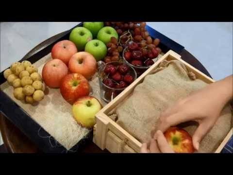 Fruit Gifts Basket Tutorial  by GiftnGo.Gift | GURU ON GIFT