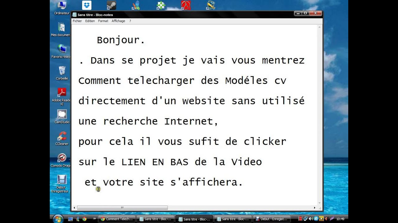 telecharger un cv gratuit wordpad