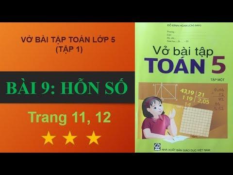 Bài 9 – Hỗn số, trang 11- 12  vở bài tập toán lớp 5 #hoctoanonline247
