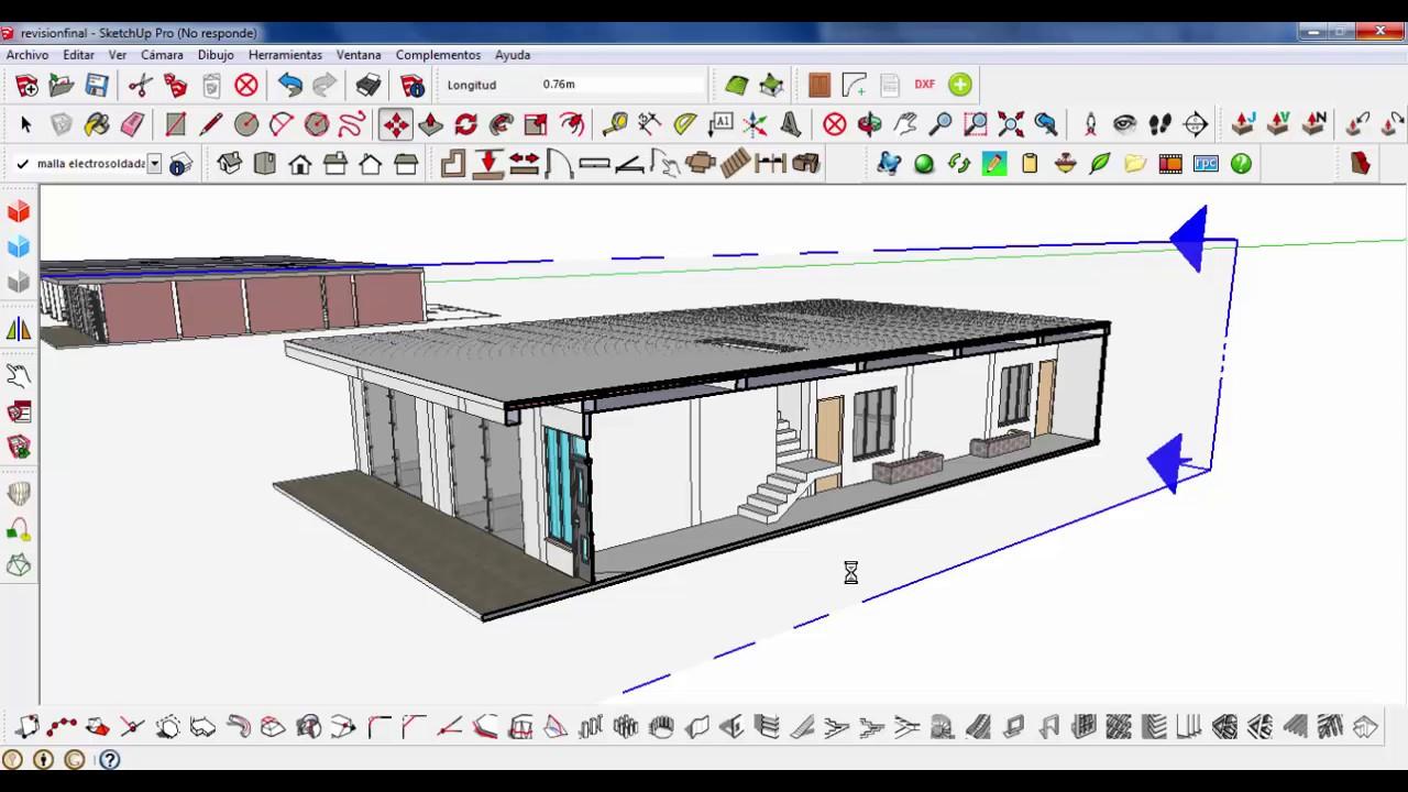Como hacer un corte arquitectonico longitudinal con for Azulejos para sketchup 8