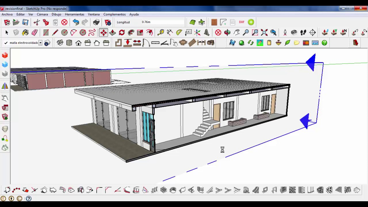 Como hacer un corte arquitectonico longitudinal con for Mobilia para sketchup 8