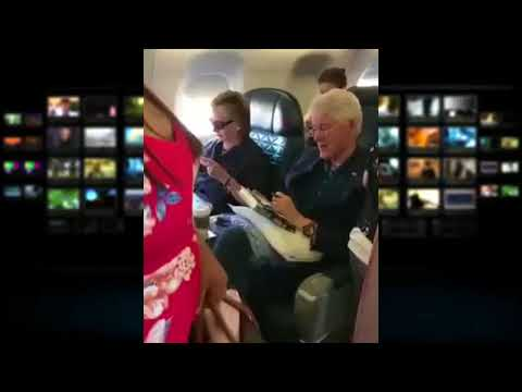 Were Bill and Hillary Clinton Body Doubles Spotted on a Commercial Flight
