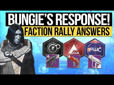 Destiny 2 News   BUNGIE'S FACTION RALLY RESPONSE! - Confirmation on New Weapon Drops & Lost Sectors!
