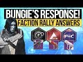 Destiny 2 News BUNGIE S FACTION RALLY RESPONSE The DLC Weapon Lost Sector Lockouts Disaster mp3