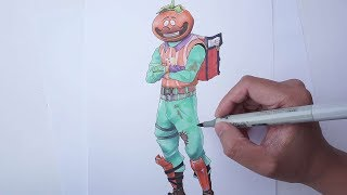 Let's Draw Tomato Head skin from FORTNITE