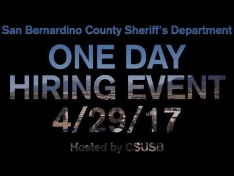 SBCSD Hiring Event 2017