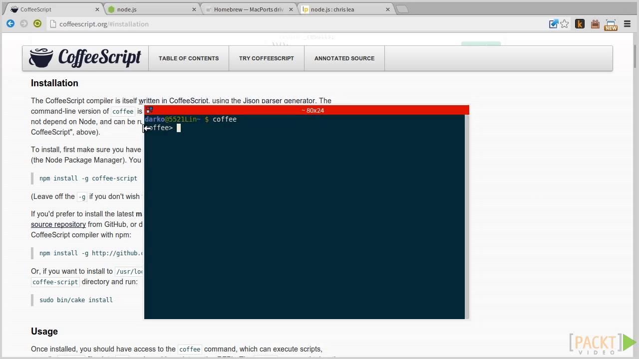install nodejs using macports