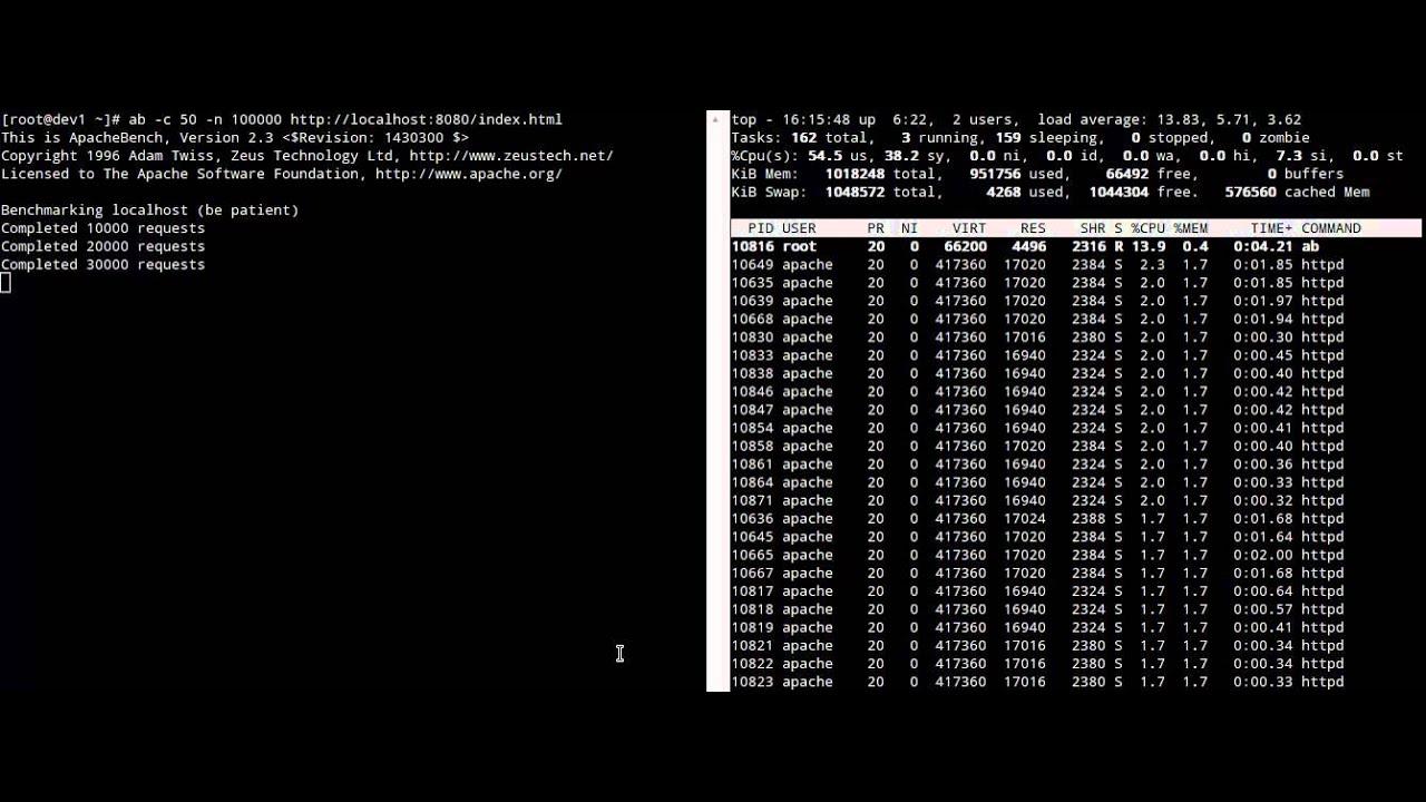 web server load testing