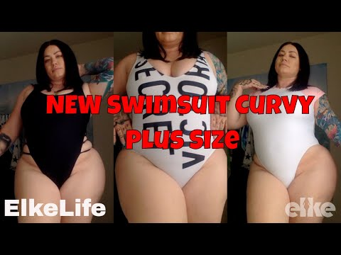 Review: NEW One-Piece Sexy Curvy Plus Size Swimsuit Summer| Elke Life