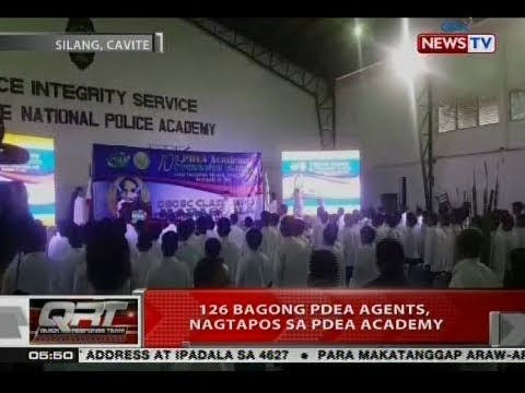 QRT: 126 bagong PDEA agents, nagtapos sa PDEA academy