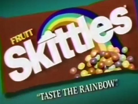 Skittles Candy Taste The Rainbow 1986 TV Commercial HD