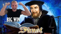 Faust BIG WIN - HUGE WIN - Casino Games from LIVE Stream