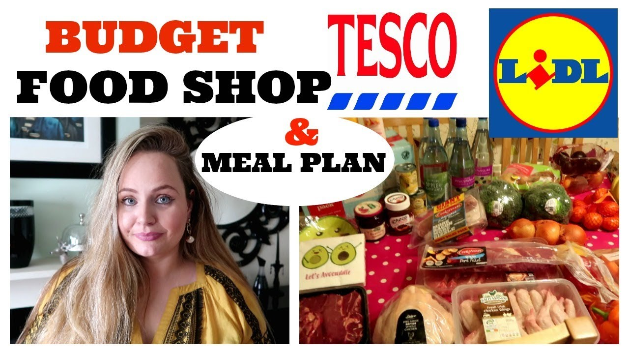 CHEAP FOOD SHOP TESCO LIDL GROCERY HAUL Large Family Budget Meal Plan Ideas