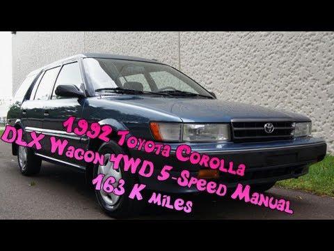 1992 toyota corolla dlx estate station wagon 4wd 5 speed manual with rh youtube com Toyota Corolla Repair Manual 2013 Toyota Corolla Manual