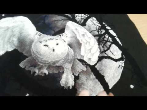 Вышивка панна совы